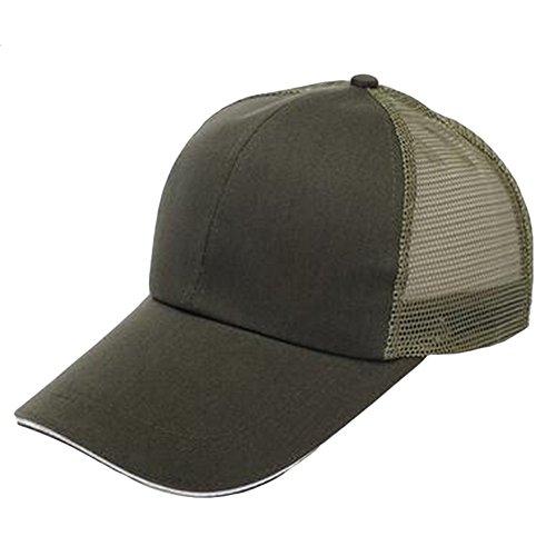 Cdet Sombrero Color sólido Hip-Hop Sombrero Marea de Viaje Unisex Gorra de béisbol algodón Mezclado molienda Borde,Ejercito Verde