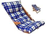 LIBEROSHOPPING.eu - LA TUA CASA IN UN CLICK Cuscino Imbottito di Ricambio per Poltrona Sedia Sdraio Harmony Relax, 105x55x14cm (Blu)