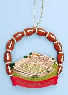 Ridgewood Collectibles NCAA Washington State Cougars Football Martin Stadium Ornament
