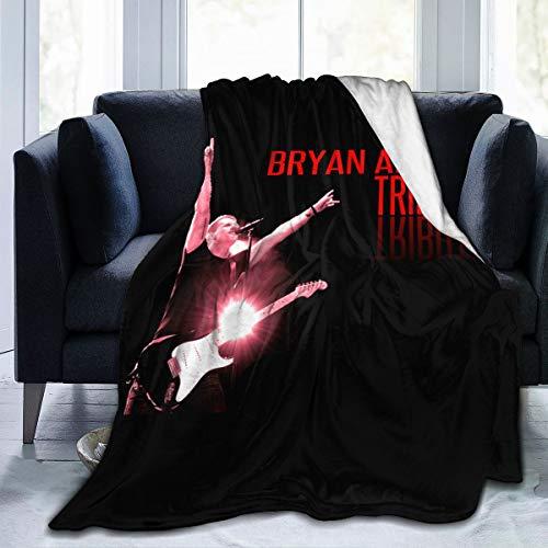 """Lphdfoxh1 Bryan Adams – Funda de edredón de franela adecuada para todo tipo de sofá, oficina suave y cómoda., Franela., negro, 80""""x60"""""""