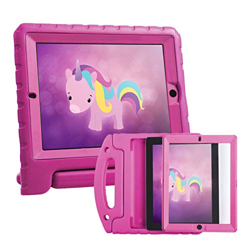 HDE Case for iPad 2 3 4 Kids Shockproof bumper Hard Cover Handle Stand with Built in Screen Protector for Apple iPad 2nd 3rd 4th Generation (Pink)
