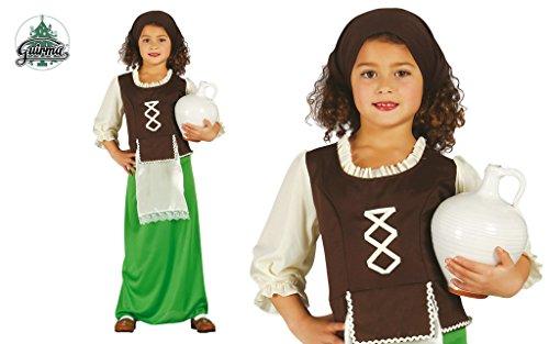 Disfraz de pastorcita verde infantil 7-9 años