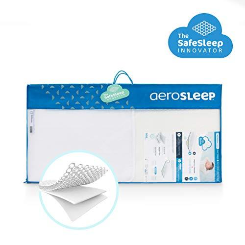 AEROSLEEP - Evolution Pack - Matras- en matrasbeschermer - Hoogwaardige matras in koud schuim voor optimale rugondersteuning - 80 x 50cm - Wit