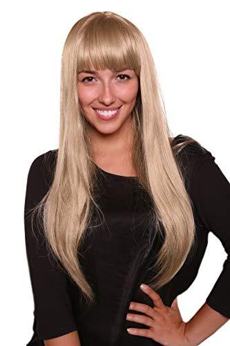 WIG ME UP ® - 3113-24 Perücke Eisprinzessin blond,lang und auffällig,Pony femme fatal