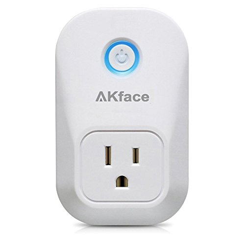 Akface Smart Power Plug Surge Protector, Wi-Fi Power Strip Socket, Compatible with Alexa, Echo/Google Home, Enable Remote Control of Normal Electric Appliances via iPhone iPad Samsung and More