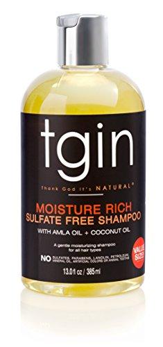 tgin Moisture Rich Sulfate Free Shampoo For Natural Hair - Dry Hair - Curly Hair - 13 Oz