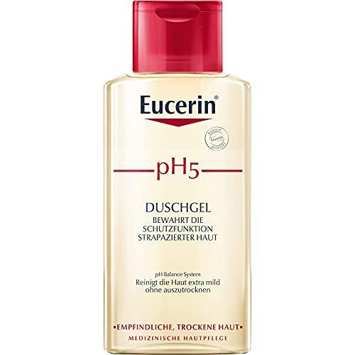 Eucerin pH5 Duschgel bewahrt die Schutzfunktion strapazierter Haut, 200 ml Gel