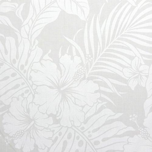 【定番ハワイアンプリント】フラガール 2 2色あります 1m単位で切り売りいたします ホワイト