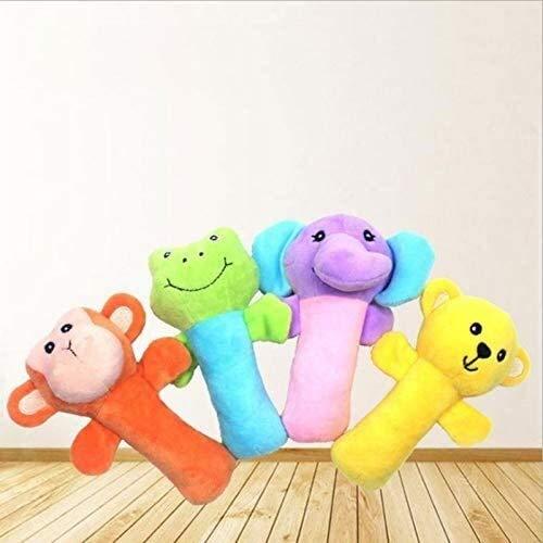 Plüschtier 15 * 6cm 4pcs / lot quietschendes Hundespielzeug füllte Plüsch-Spiel Spielzeug-Affe-Form-Plüsch-Chew Molar quietschenden Spielzeug for Hunde Welpen Spielzeug Zum Reinigen der Zähne Fulinmen