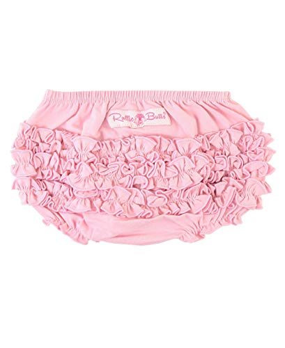 RuffleButts Baby/Toddler Girls Baby Pink Knit Ruffle Nappy Cover - 2T/3T