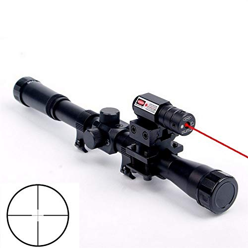 3 in 1 4x20 gun tactical crossbow optics, and infrared sight, 11mm rail mount for 22 caliber rifle scope