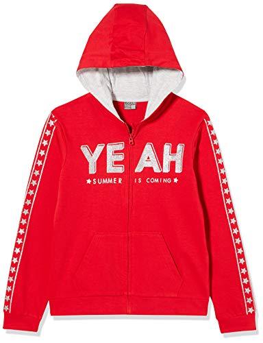 Losan Mädchen 014-6680al Trainingsjacke, Rot (Rojo Medio 492), Jahre (Herstellergröße: 14)