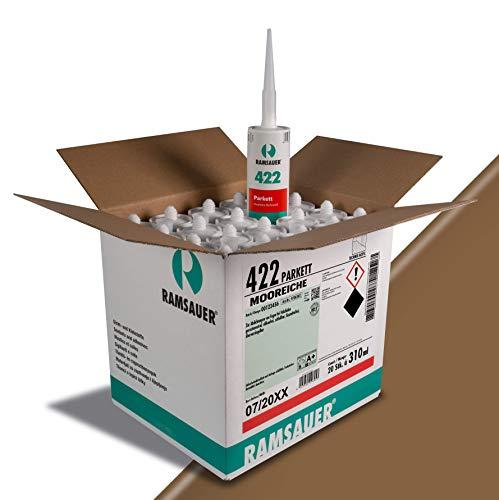 Ramsauer 422 Parkett Acryl - Fugendichtstoff für Holzböden, 20 Stück im Karton (Mooreiche)