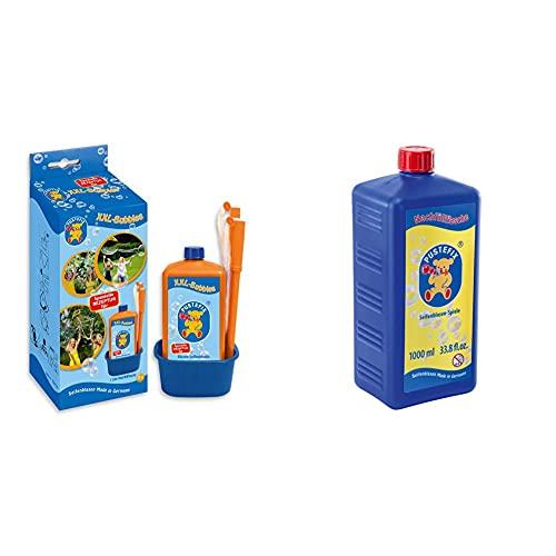 Pustefix 420869858 XXL-Bubbles I 1000 ml Seifenblasenwasser und Zubehör I Bunte Bubbles & Seifenblasen Nachfüllflasche Maxi 1L I Seifenblasenflüssigkeit für Bunte Blasen
