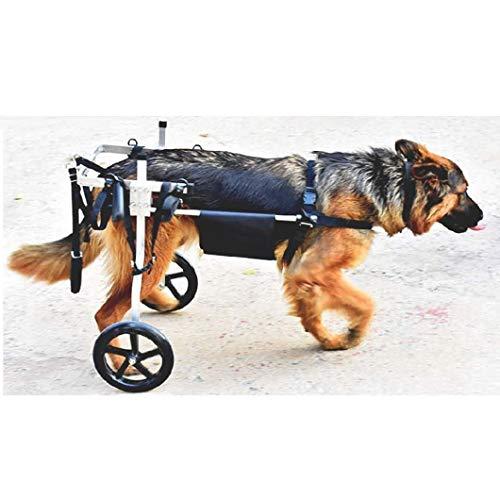 SYTH Hunderollstuhl Wheels Dog Wheelchair Für mittelgroße Hunde,Hundehund Rollstuhl Hinterbein Rehabilitation für Behinderten, 2 Räde 4 Größe Wählen Sie,15-60 kg