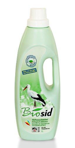 Biosid 1 Liter, bis zu 80 Waschladungen von 2,5 kg, ideal bei empfindlicher Haut, Neurodermitis, Allergien und für Baby\'s