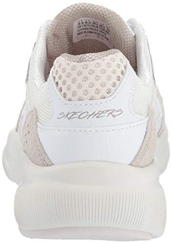 Skechers Meridian-charted, Zapatillas para Mujer, Blanco (White Natural WNT), 36 EU