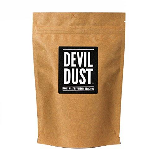 """Devil Dust - Condimento extra picante y barbacoa - """"Hace la carne deliciosamente picante"""" - Paquete grande (225 gr) – Regalo perfecto para los amantes de las salsas picantes"""