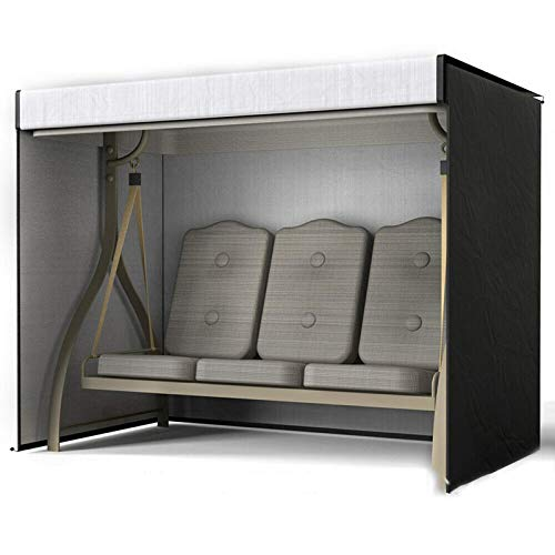 Fundas para muebles de jardín impermeables 220x125x170cm, funda para columpios para exteriores impermeable, lona para columpios para exteriores, tela Oxford resistente 420D, resistente a la lluvia,