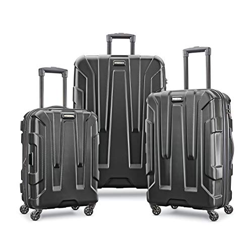 Samsonite Centric Hardside Expandable Luggage with Spinner Wheels, Black, 3-Piece Set (20/24/28)