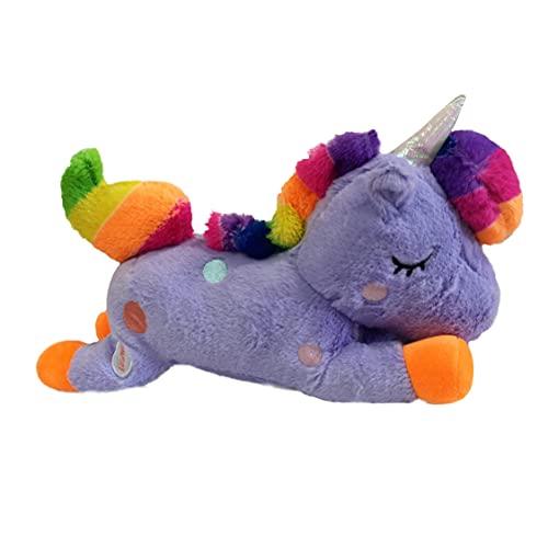 APEX GIFTS - Cojín con Forma de Unicornio con Luz - Lila