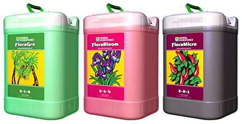 General Hydroponics Flora Series 6 Gallons: FloraGro, FloraBloom, and FloraMicro
