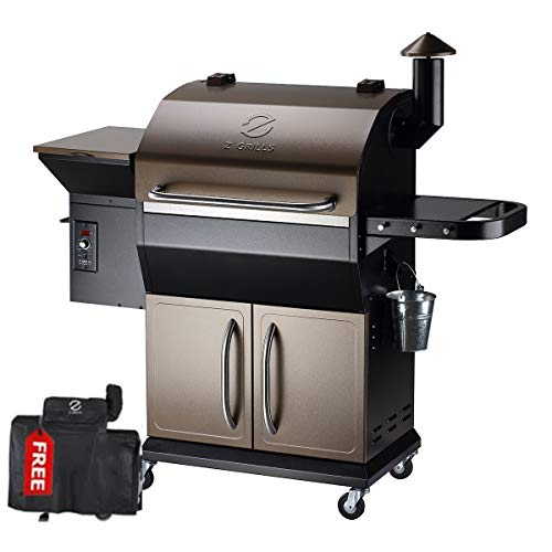 Z GRILLS 2020 Upgrated Wood Pellet Grill and Smoker 1000sqin...