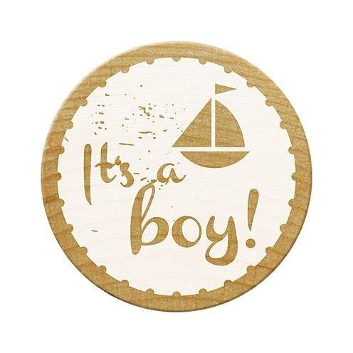 "Woodies ""It 's a Boy 2"" Sello, Madera, marrón, 30mm"