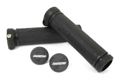 MSC Bikes GRIP03 - Puños de Ciclismo Unisex, Color Negro, 130 mm