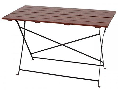 PEGANE Table de Jardin en Bois Coloris Brun - Dim : 75 x 120 x 60 cm