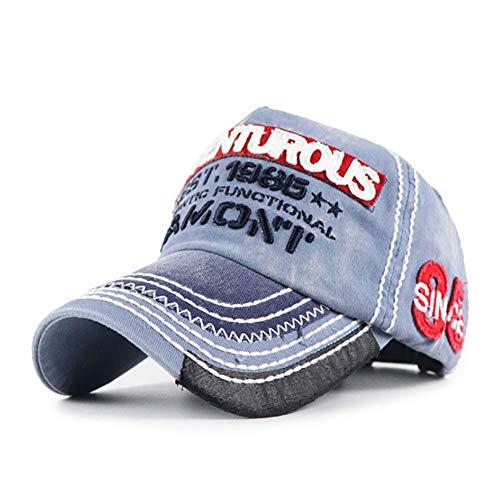 FHHYY Gorra Bordado de Aventura Senderismo Sombrero Vintage Gorra de béisbol con Parche de montaña Ajustable Hombres Mujeres Sombrero de Camionero,A