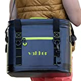 VAKKER 30 Can Insulated Cooler Bag, 3 Days Ice Life, Waterproof, 100% Leakproof, Dustproof Portable Soft Side Cooler Bag, Lunch Box for Outdoor, Camping, Hiking, Beach, Travel, Picnic (Navy Blue)