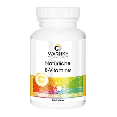 Vitamin B Komplex hochdosiert - Natürliche B Vitamine mit Hefe-Extrakt - 100 Tabletten - Hergestellt in Deutschland