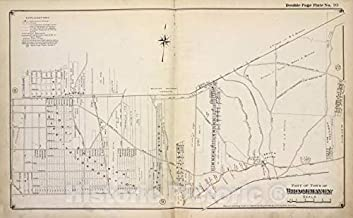 Historic 1915 Map - Part of Town of Brookhaven - Suffolk County (N.Y.Atlas of Suffolk County, Long Island, New York - Vintage Wall Art - 71in x 44in