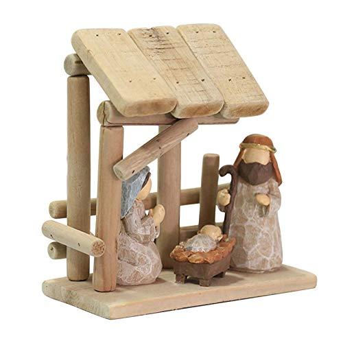 VAHIGCY Nativity Set - Nativity Sets for Christmas Indoor - Manger Scene Christmas Decorations - Christmas Nativity Set - Baby Jesus Nativity - Holy Family Nativity Scene