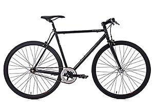 KS Cycling Fixie Fitnessbike 28'' Flip Flop schwarz RH 53 cm Fahrrad, 28