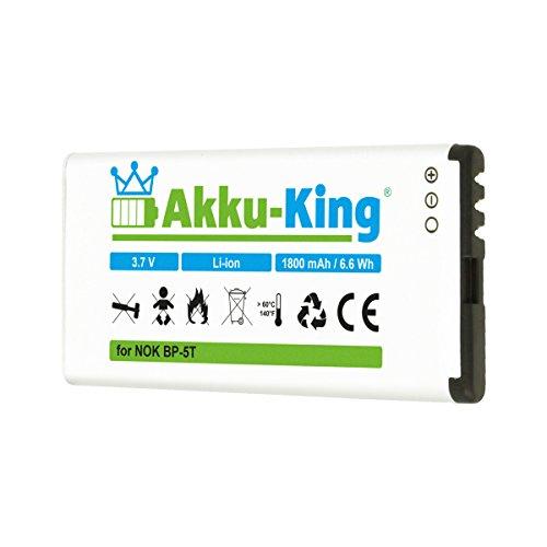 Akku-King Akku kompatibel mit Nokia BP-5T, BP-5H - 1800mAh - für Lumia 820, 820.2, 825, 701 - Li-Ion