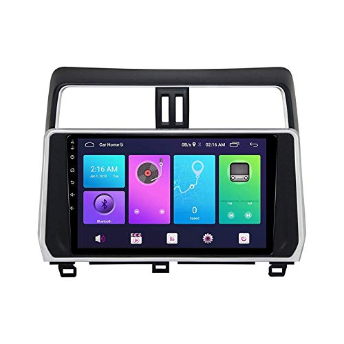 Para TOYOTA PRADO LC150 2018 Android Audio Audio STEREO SAT NAV TOUP TOUP Unidad De Cabeza Auto Radio MP5 Video Player Con GPS Wifi FM Receptor Bluetooth Llamada De Manos Libres,4 core 4g+wifi: 1+32gb