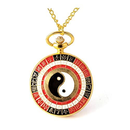 Reloj de Bolsillo Retro Analógico Reloj de Bolsillo de Cuarzo Creativo Ocho diagramas Relojes