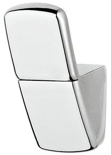 Gedotec Design Garderobenhaken eckig Kleiderhaken Garderobe verchromt poliert - CLIP | Haken einzeln | Metall massiv | Wand-Haken unsichtbar verschraubt | 10 Stück - Mantelhaken für Wand-Montage