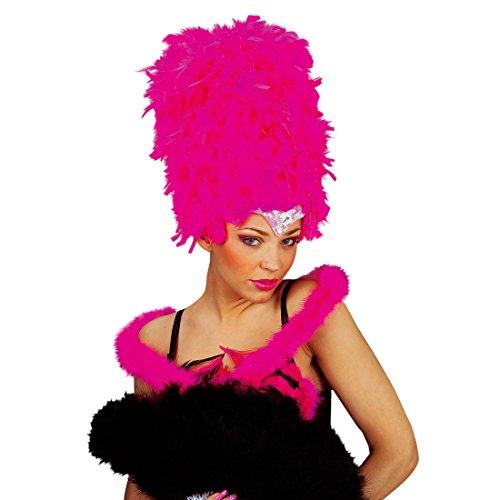 Amakando Boa Plumes Marabout étole Bunny soirée à thème Pink - 2 m châle Enterrement de Vie de Jeune Fille écharpe Danseuse Cancan