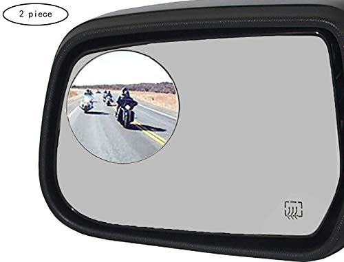 Ampper 2 Pack 3' Blind Spot Mirrors for Trucks, Van, SUV, Large Vehicle - Aluminum Frame Glass Convex Rear View Blind Spot Mirrors