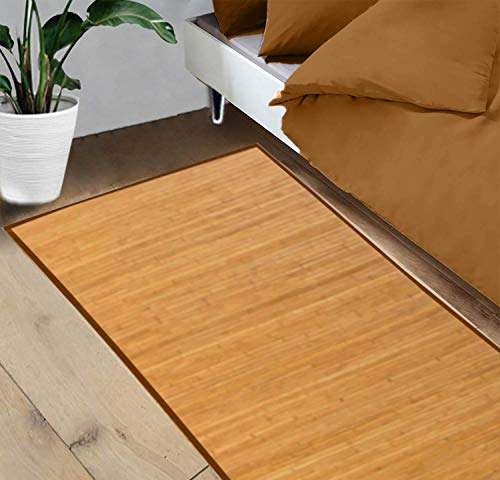 Hogar y Mas Alfombra Pasillera, Salón o Dormitorio, Madera de Bambú Natural para Interior (125x60)