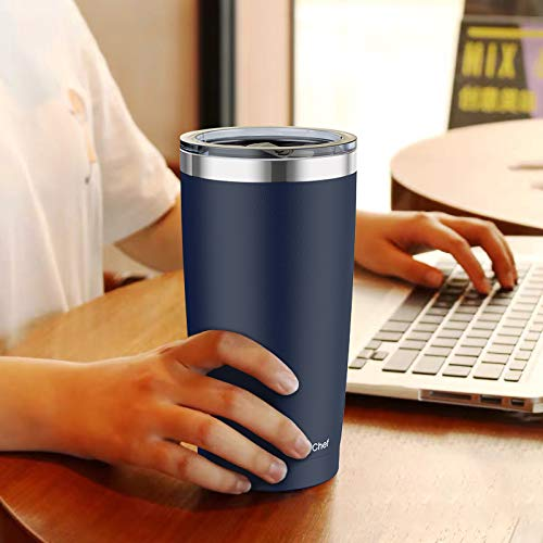 20oz Tumbler with Lid, Umite Chef Stainless Steel Vacuum Insulated Double Wall Travel Tumbler