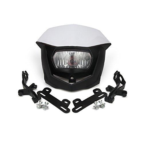 H4 12 V 35 W Universel Lentille en Verre Couvercle Phare Tête Lampe pour Moto Dirt Pit Bike ATV Scooters Blanc