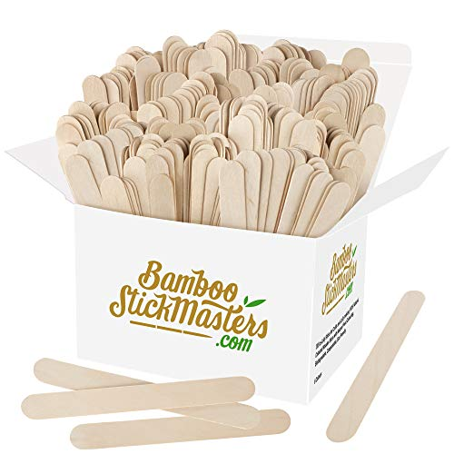 Jumbo Lolly Sticks 300 Giant Houten Lollipop Sticks Natuurlijke Hout Kunst en Ambachten Plant Labels Popsicle