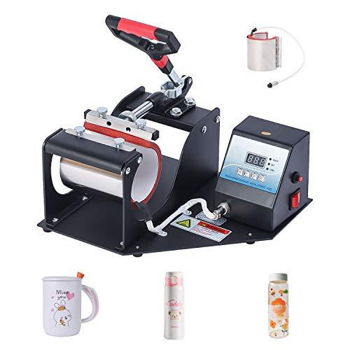 2 in 1 Mug Cup Heat Press Machine Digital Transfer Sublimation Print Machine for DIY Printing Coffee Cup Sports Bottle Steel Mug (2 in 1 Mug Press)