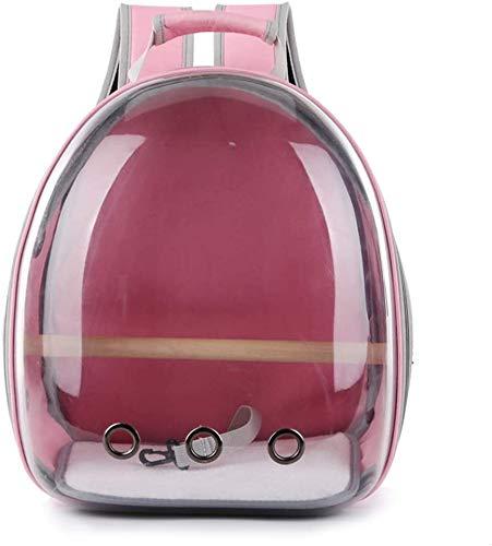 longsheng Haustier-Transporttasche für Papageien, Reisekapsel, atmungsaktiv, 360° Sightseeing, Rosa