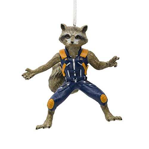 Hallmark Marvel Guardians of The Galaxy Rocket Raccoon Christmas Ornaments