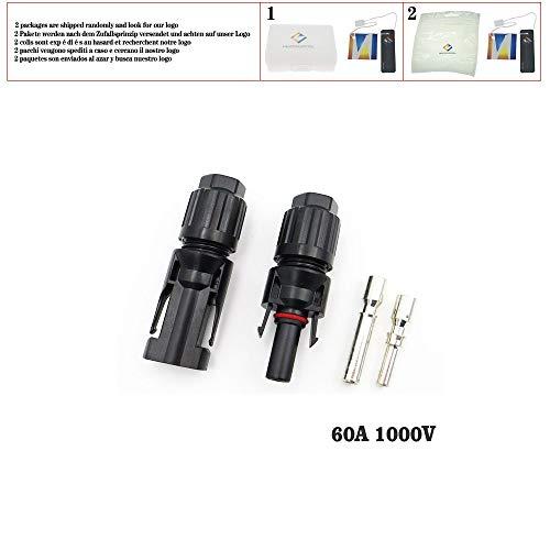 Steckverbinder 30A 45A 60A 80A Parallele Parallelschaltung 1000V Elektrische Solar-Stecker Photovoltaikpanel-Kabel Drahtverbindung, Steckverbinder 60A